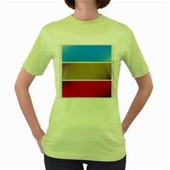 Pattern Template Banner Background Women s Green T Shirt