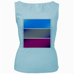Pattern Template Banner Background Women s Baby Blue Tank Top