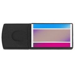 Pattern Template Banner Background Rectangular Usb Flash Drive