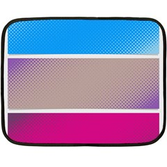 Pattern Template Banner Background Fleece Blanket (mini)