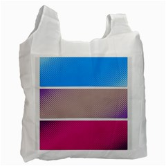 Pattern Template Banner Background Recycle Bag (two Side)