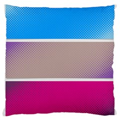 Pattern Template Banner Background Large Cushion Case (two Sides)