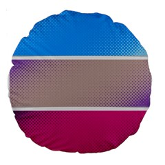 Pattern Template Banner Background Large 18  Premium Round Cushions