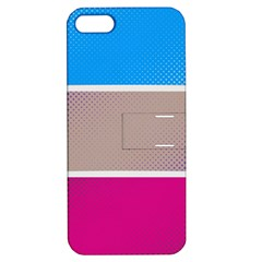 Pattern Template Banner Background Apple Iphone 5 Hardshell Case With Stand