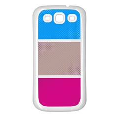 Pattern Template Banner Background Samsung Galaxy S3 Back Case (white)