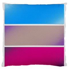 Pattern Template Banner Background Large Flano Cushion Case (one Side)
