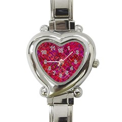 Pattern Background Square Modern Heart Italian Charm Watch