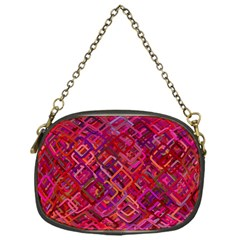Pattern Background Square Modern Chain Purses (one Side)