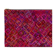 Pattern Background Square Modern Cosmetic Bag (xl)