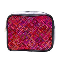 Pattern Background Square Modern Mini Toiletries Bags