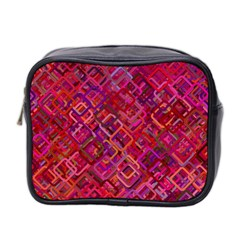 Pattern Background Square Modern Mini Toiletries Bag 2 Side
