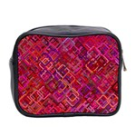 Pattern Background Square Modern Mini Toiletries Bag 2-Side Back