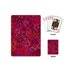 Pattern Background Square Modern Playing Cards (mini)