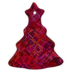 Pattern Background Square Modern Ornament (christmas Tree)