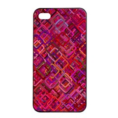 Pattern Background Square Modern Apple Iphone 4/4s Seamless Case (black)