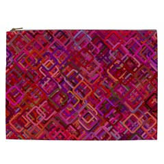 Pattern Background Square Modern Cosmetic Bag (xxl)