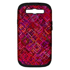 Pattern Background Square Modern Samsung Galaxy S Iii Hardshell Case (pc+silicone)