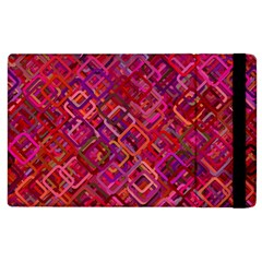 Pattern Background Square Modern Apple Ipad 2 Flip Case