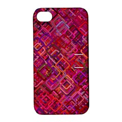 Pattern Background Square Modern Apple Iphone 4/4s Hardshell Case With Stand
