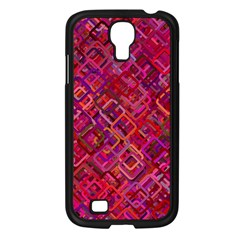 Pattern Background Square Modern Samsung Galaxy S4 I9500/ I9505 Case (black)