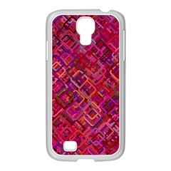 Pattern Background Square Modern Samsung Galaxy S4 I9500/ I9505 Case (white)