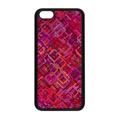 Pattern Background Square Modern Apple Iphone 5c Seamless Case (black)
