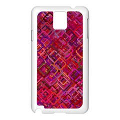 Pattern Background Square Modern Samsung Galaxy Note 3 N9005 Case (white)