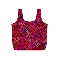 Pattern Background Square Modern Full Print Recycle Bags (s)