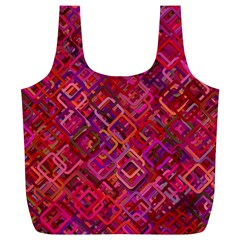 Pattern Background Square Modern Full Print Recycle Bags (l)
