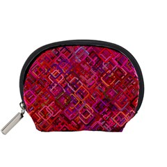 Pattern Background Square Modern Accessory Pouches (small)