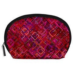 Pattern Background Square Modern Accessory Pouches (large)