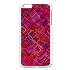 Pattern Background Square Modern Apple Iphone 6 Plus/6s Plus Enamel White Case