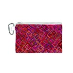 Pattern Background Square Modern Canvas Cosmetic Bag (S) Front