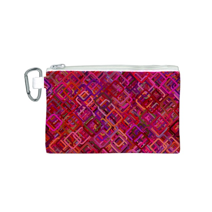 Pattern Background Square Modern Canvas Cosmetic Bag (S)