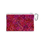 Pattern Background Square Modern Canvas Cosmetic Bag (S) Back