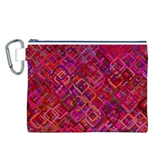 Pattern Background Square Modern Canvas Cosmetic Bag (l)