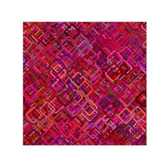 Pattern Background Square Modern Small Satin Scarf (square)