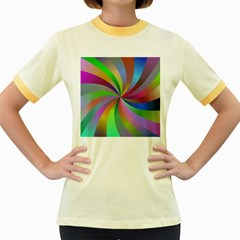 Spiral Background Design Swirl Women s Fitted Ringer T Shirts
