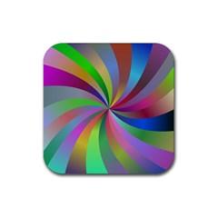 Spiral Background Design Swirl Rubber Coaster (square)