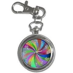 Spiral Background Design Swirl Key Chain Watches