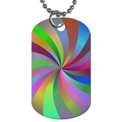 Spiral Background Design Swirl Dog Tag (two Sides)