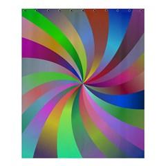 Spiral Background Design Swirl Shower Curtain 60  X 72  (medium)