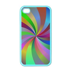Spiral Background Design Swirl Apple Iphone 4 Case (color)