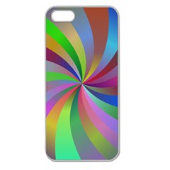 Spiral Background Design Swirl Apple Seamless Iphone 5 Case (clear)