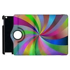 Spiral Background Design Swirl Apple Ipad 3/4 Flip 360 Case