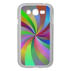Spiral Background Design Swirl Samsung Galaxy Grand Duos I9082 Case (white)