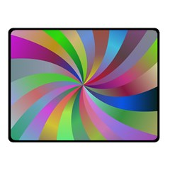 Spiral Background Design Swirl Double Sided Fleece Blanket (small)