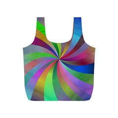 Spiral Background Design Swirl Full Print Recycle Bags (s)