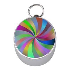 Spiral Background Design Swirl Mini Silver Compasses