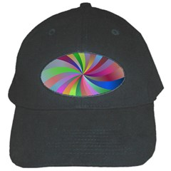 Spiral Background Design Swirl Black Cap
